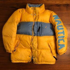 Náutica Down Jacket - Yellow//Blue. Boys. Size 7